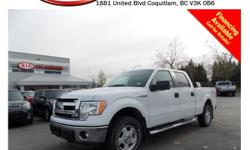 This 2013 Ford F150 Supercrew FX4 4WD comes with keypad entry, steering wheel media controls, Bluetooth, A/C, SIRIUS radio, CD player, AM/FM stereo, power locks/windows/mirrors, alloy wheels, fog lights, running boards, tinted rear windows, tool case and