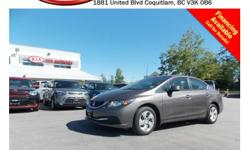 Trans Manual 2013 Honda Civic LX has steering wheel media controls, Bluetooth, dual control heated seats, power locks/windows/mirrors, A/C, CD player, AM/FM stereo and so much more! STK # 399648 DEALER #31228 Need to finance? Not a problem. We finance