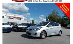 Trans Automatic 2013 Hyundai Accent with power locks/windows/mirrors, steering wheel media controls, dual control heated seats, A/C, CD player, AM/FM stereo, rear defrost and so much more! STK # P0006A DEALER #31228 Need to finance? Not a problem. We