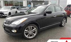Make Infiniti Model EX37 Year 2013 kms 85008 Trans Automatic Price: $21,995 Stock Number: 186884A VIN: JN1BJ0HR9DM481618 Engine: 325HP 3.7L V6 Cylinder Engine Fuel: Gasoline Leather Seats, Rear View Camera, Heated Seats, SiriusXM, Aluminum Wheels! This