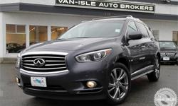 Make Infiniti Model JX Year 2013 Colour Grey kms 110081 Trans Automatic Price: $24,995 Stock Number: V3889 VIN: 5N1AL0MM9DC323889 Engine: 6 Cylinder BC Vehicle, excellent condition AWD luxury SUV with a deluxe power package including Navigation, Backup