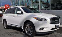 Make Infiniti Model JX Year 2013 Colour White kms 67396 Price: $41,995 Stock Number: L16096A Engine: V-6 cyl We have a team of highly-experienced sales and service staff to serve our customers with the highest level of automotive expertise and customer