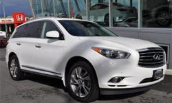 Make Infiniti Model JX Year 2013 Colour White kms 67396 Price: $35,900 Stock Number: T0793 Engine: V-6 cyl Was $36,995 Now $35,900...PREMIUM TECH PACKAGE NAVIGATION DVD ...We have a team of highly-experienced sales and service staff to serve our customers