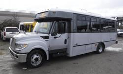 Make International Model 3000 Year 2013 Colour Gray kms 160916 Trans Automatic Stock #: BC0030786 VIN: 4DRXWSKK7DH200660 2013 International 3000 22 Passenger Bus Diesel with Wheelchair Accessibility, 6.4L, 8 cylinder, Allison transmission, 3 door,