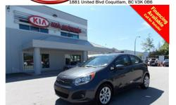 Trans Automatic This locally owned 2013 Kia Rio5 LX+ with ECO comes with fog lights, steering wheel media controls, Bluetooth, dual control heated seats, power locks/windows/mirrors, A/C, AUX/iPod/USB connection, SIRIUS radio, CD player, AM/FM stereo and