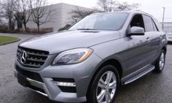 Make Mercedes-Benz Model ML350 Year 2013 Colour Gray kms 110378 Trans Automatic Stock #: BC0030783 VIN: 4JGDA2EB1DA135374 2013 Mercedes-Benz M-Class ML350 BlueTEC, 3.0L V6 DOHC 24V TURBO DIESEL engine, 4 door, automatic, 4WD, 4-Wheel AB, cruise control,