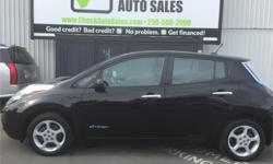 Make Nissan Model Leaf Year 2013 Colour Black kms 36000 Price: $16,977 Stock Number: 604-083e This awesome Leaf SV has all the power options, air conditioning and keyless entry. There is lots of room for 5 tall passengers and still ample cargo space.
