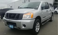 Make Nissan Model Titan Year 2013 Colour Silver kms 78259 Trans Automatic Price: $24,995 Stock Number: CP2494 VIN: 1N6AA0EC0DN302494 Interior Colour: Charcoal Engine: V-8 cyl Fuel: Regular Unleaded Delivers 17 Highway MPG and 12 City MPG! This Nissan