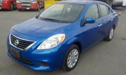 Make Nissan Model Versa Year 2013 Colour Blue kms 103602 Trans Automatic Stock #: BC0030284 VIN: 3N1CN7AP0DL829830 2013 Nissan Versa 1.6 SV Sedan, 1.6L, 4 cylinder, 4 door, automatic, FWD, 4-Wheel ABS, cruise control, air conditioning, AM/FM radio, CD