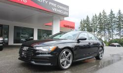 Make Audi Model A6 Year 2014 Colour Black kms 29118 Trans Automatic 2014 Audi A6. This stunning black on black Audi A6 Quattro Progressiv offers all wheel drive, navigation, back up camera, glass sunroof, adaptive xenon headlights, Bose sound system with