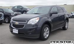 Make Chevrolet Model Equinox Year 2014 Colour Grey kms 63360 Trans Automatic Price: $20,497 Stock Number: X18001 Interior Colour: Black Cylinders: 4 - Cyl Top selling mid size awd SUV. World famous sliding rear seatgiving it the most room in it's class.