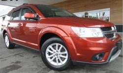 Make Dodge Model Journey Year 2014 Colour Orange kms 110215 Trans Automatic Price: $15,968 Stock Number: P2891A VIN: 3C4PDCCB6ET204183 Interior Colour: Black Engine: 2.4L I4 DOHC 16V Dual VVT Fuel: Regular Unleaded Cargo Compartment Cover! This 2014 Dodge