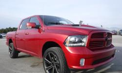 Model 1500 Year 2014 Colour Red Trans Automatic kms 99348 Stock #: BC0030678 VIN: 1C6RR7MT4ES368260 2014 Dodge Ram 1500 Sport Crew Cab Short Box 4WD, 5.7L, 4 door, automatic, 4WD, 4-Wheel ABS, cruise control, AM/FM radio, navigation aid, power door locks,