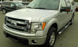 Make Ford Model F-150 Year 2014 Colour Silver kms 166191 Trans Automatic Stock #: BC0030465 VIN: 1FTFW1ET8EFB63629 2014 Ford F-150 XLT SuperCrew 5.5-ft. Bed 4WD Eco Boost, 3.5L, 6 cylinder, canopy, 4 door, automatic, 4WD, 4-Wheel AB, cruise control, air