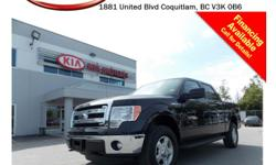 Trans Automatic This locally owned/no accidents 2014 Ford F150 Crew 4X4 Flex Fuel comes with alloy wheels, fog lights, running boards, tinted rear windows, tow hitch, power windows/locks/mirrors, steering wheel media controls, Bluetooth, A/C, AUX/USB