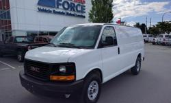 Make GMC Model Savana 2500 Year 2013 Colour White kms 49016 Trans Automatic Reasonably priced and DRIVING FORCE Certified, this Savana cargo van is a fitting option for a new business looking for an affordable vehicle to tackle its hauling needs.
