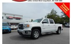 Trans Automatic 2014 GMC Sierra 1500 SLE with alloy wheels, fog lights, running boards, tinted rear windows, power locks/windows/mirrors, A/C, CD player, AM/FM stereo, rear defrost and so much more! STK # PP0007 DEALER #31228 Need to finance? Not a
