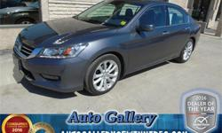 Make Honda Model Accord Year 2014 Colour Grey kms 26679 Trans Automatic Price: $26,888 Stock Number: 21480 Interior Colour: Black Engine: 3.5 L Fuel: Gasoline *SAVE AN ADDITIONAL $1,000 OFF OF THE LISTED PRICE BY FINANCING! O.A.C.* Only 26,679kms and