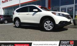 Make Honda Model CR-V Year 2014 Colour White kms 61284 Trans Automatic Price: $26,500 Stock Number: A2740A Fuel: Gasoline CERTIFIED 2014 HONDA CR-V EX-L WITH factory warranty until May 22 ,2020 or 120,000 kms, whichever comes first. Loaded with leather,