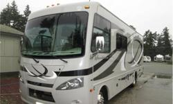 Price: $84,900 Fuel: Gasoline hurricane by thor , rear king bed , front drop down over head bed ,gen set ,one owner unit with only 3844 miles .