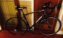 I have for sale a mint condition large (56) road bike for sale. Ridden for less than 1000k (and it shows) and never ridden in rain or wet weather. Brand new DT Swiss front rim and hub, as I had my rim stolen, so I upgraded it. This is a perfect bike for
