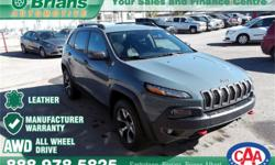 Make Jeep Model Cherokee Year 2014 Colour Grey kms 42396 Price: $31,999 Stock Number: 7100A Engine: 3.2L V6 Cylinders: 6 Fuel: Gasoline FREE WARRANTY 100PT INSPECTION ADDITIONAL WARRANTY AVAILABLE. $31999 - 2014 Jeep Cherokee Trailhawk - INTERESTED? TEXT