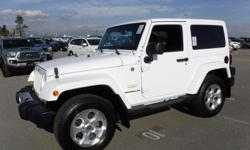 Make Jeep Model Wrangler Year 2014 Colour White kms 112173 Trans Automatic Stock #: BC0030505 VIN: 1C4AJWBG0EL285805 2014 Jeep Wrangler Sahara 4WD, 3.6L, 6 cylinders, 2 door, automatic, 4WD, 4-Wheel ABS, cruise control, AM/FM radio, CD player, power door