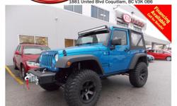 Trans Manual This 2014 Jeep Wrangler Sport comes with alloy wheels, fog lights, spare tire, soft top, steering wheel media controls, CD player, AM/FM radio, rear defrost and so much more! STK # 1499590 DEALER #31228 Need to finance? Not a problem. We