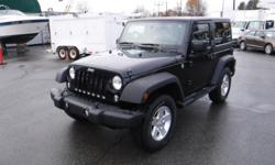 Make Jeep Model Wrangler Year 2014 Colour Black kms 88934 Trans Manual Stock #: BC0030695 VIN: 1C4AJWAG5EL162650 2014 Jeep Wrangler Sport 4WD, Removable Hard Top, 3.6L, 6 cylinder, 2 door, manual, 4WD, 4-Wheel ABS, cruise control, air conditioning, AM/FM