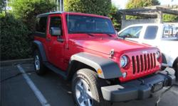 Make Jeep Model Wrangler Year 2014 Colour Red kms 27577 Trans Automatic Price: $28,000 Stock Number: K16-05B Interior Colour: Black Engine: V6 Fuel: Gasoline Just Like New! Accident Free. One Owner. Smoker Free. Good Options. Candy Apple Red Exterior with