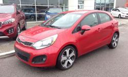 Make Kia Model Rio5 Year 2014 Colour Red kms 25180 Trans Automatic Body-style: Hatchback Drive Line: FWD Engine: 1.6L I-4 cyl Exterior Colour: Red Interior Colour: Black Kilometers: 25180 Stock #: UC912033 This vehicle is located at West Coast Kia FUEL