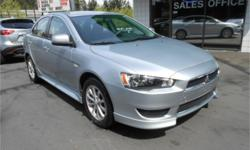 Make Mitsubishi Model Lancer Year 2014 Colour Silver kms 50300 Trans Automatic Price: $12,998 Stock Number: C9511 Interior Colour: Black Cylinders: 4 - Cyl Fuel: Gasoline 2014 Mitsubishi Lancer 2.0 ES Sedan Automatic Features Include: Alloy wheels, A/C,