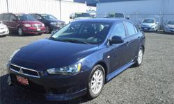 Make Mitsubishi Model Lancer Year 2014 Colour Blue Metallic kms 50190 Trans Automatic Price: $12,996 Stock Number: C9407 Cylinders: 4 - Cyl Fuel: Gasoline Very well euipped, fuel efficient, ROOMY car at an affordable price. - Automatic transmission,