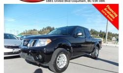 Trans Automatic 2014 Nissan Frontier SV 4X4 with alloy wheels, tinted rear windows, steering wheel media controls, Bluetooth, power locks/windows/mirrors, sunroof, A/C, CD player, AM/FM stereo, rear defrost and so much more! STK # PP0299 DEALER #31228