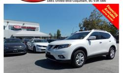 Trans Automatic This 2014 Nissan Rogue SV comes with alloy wheels, fog lights, tinted rear windows, roof rack, steering wheel controls, panoramic sunroof, Bluetooth, push start engine, dual control heated seats, backup camera, power locks/windows/mirrors,