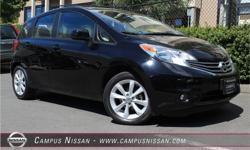 Make Nissan Model Versa Note Year 2014 Colour Black kms 48581 Trans Automatic Price: $13,990 Stock Number: JN2339 Interior Colour: Black Cylinders: 4 ** ONE LOCAL OWNER ** LOW KMS ** FULLY LOADED **This Red Brick 2014 Nissan Versa Note is the perfect