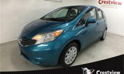 Make Nissan Model Versa Note Year 2014 Colour Metallic Peacock kms 68554 Price: $10,972 Stock Number: 16GC103A Cylinders: 4 PST Paid, Air Conditioning, Keyless Entry, Leather Steering Wheel, Heated Mirrors, and more.This 2014 Nissan Versa Note SV is