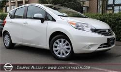 Make Nissan Model Versa Note Year 2014 Colour White kms 36927 Trans Automatic Price: $13,990 Stock Number: JN2340 Interior Colour: Black Cylinders: 4 **LOCALLY DRIVEN**NO ACCIDENTS**BACK UP CAM**This white 2015 Nissan Versa Note SV is a top pick for a