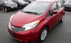 Make Nissan Model Versa Note Year 2014 Colour Red kms 110265 Trans Automatic Stock #: BC0030827 VIN: 3N1CE2CP5EL353351 2014 Nissan Versa Note SV, 1.6L, 4 cylinder, 4 door, automatic, FWD, 4-Wheel ABS, cruise control, air conditioning, AM/FM radio, CD