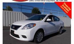 Trans Automatic This 2014 Nissan Versa S comes with alloy wheels, AM/FM stereo,steering wheel media controls, Bluetooth, A/C, CD player, power windows/locks/mirrors, low kms and much more! STK # 1491542 DEALER #31228 Need to finance? Not a problem. We