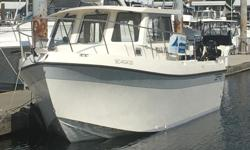 This is one immaculate fishing boat with pretty near every option available. Original owner, boathouse kept. Maui Kai III has 2 cabins with 4 berths, a full galley, great setup for fishing. Beautiful twin Suzuki four strokes just purr. Epoxy barrier coat