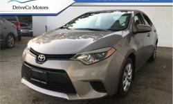 Make Toyota Model Corolla Year 2014 Colour Brown kms 88838 Trans Automatic Stock Number: BA7016 VIN: 2T1BURHE8EC117016 Engine: 132HP 1.8L 4 Cylinder Engine Fuel: Gasoline Rear View Camera, Heated Seats, Bluetooth, Air Conditioning, Fog Lamps! # 1 NEW