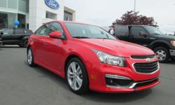 """Make Chevrolet Model Cruze Colour RED Trans Automatic kms 26986 2015 CHEVROLET CRUZE 2LT RS Price $ 17998 * Stock # 6ESB49163A Exterior Colour: RED Odometer: 26986 4-Cylinder Engine Front Wheel Drive ABS Brakes Air Conditioning 18"""" Alloy Wheels Automatic"""