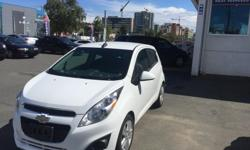 Make Chevrolet Model Spark Year 2015 Colour white kms 22997 2015 Chevrolet Spark Automatic, Power Windows/Locks, USB/AUX , Bluetooth, BC vehicle ,Budget certified vehicle !! All vehicles come with full mechanical inspection and 30 day no hassle money back