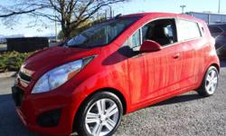 Make Chevrolet Model Spark Year 2015 Colour Red kms 63582 Trans Automatic Stock #: BC0030756 VIN: KL8CB6S93FC743628 2015 Chevrolet Spark LS CVT, 1.2L, 4 cylinder, 4 door, automatic, FWD, 4-Wheel AB, air conditioning, AM/FM radio, CD player, power windows,