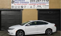 Make Chrysler Model 200 Year 2015 Colour White kms 28648 Trans Automatic Price: $18,999 Stock Number: FC2206 VIN: 1C3CCCCGXFN682206 Engine: 295HP 3.6L V6 Cylinder Engine Fuel: Gasoline 2015 Chrysler 200 C with 28,640 KM! Exterior doors : 4 doors,