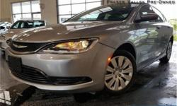 Make Chrysler Model 200 Year 2015 Colour Grey kms 20792 Trans Automatic Price: $13,988 Stock Number: BA9712 VIN: 1C3CCCFB9FN729712 Engine: 184HP 2.4L 4 Cylinder Engine Fuel: Gasoline Low Mileage, Air Conditioning, Steering Wheel Audio Control, Power