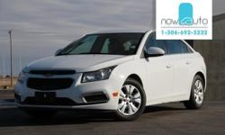 Make Chevrolet Model Cruze Year 2015 Colour White kms 34000 Trans Automatic Eye Catching design, Nimble handling, great fuel economy and an upscale interior are just a few of the reasons why this 5 passenger 2015 Chevy Sonic LS FWD Sedan in Silver Ice