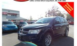Trans Automatic This 2015 Dodge Journey R/T comes with alloy wheels, fog lights, roof rack, tinted rear windows, leather interior, push start engine, power locks/windows/mirrors, dual control heated seats, steering wheel media controls, Bluetooth, A/C, CD