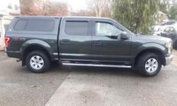Make Ford Model F-150 SuperCrew Year 2015 Colour Green kms 82500 Trans Automatic Original owner, very clean well maintained local Vancouver Island truck with matching canopy. 5.0 V8 4X4, trailer tow package with Class IV Hitch, running boards, mud flaps,